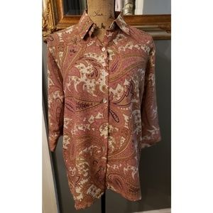 VINTAGE BONWORTH 1970's Paisley Button Down Shirt